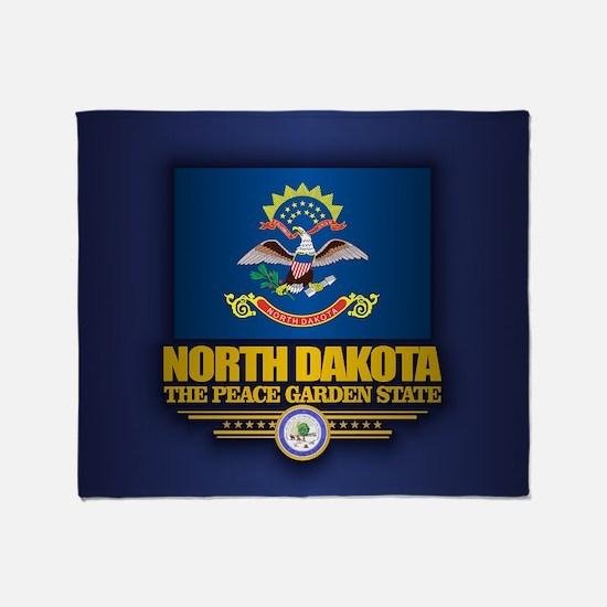 North Dakota (v15) Throw Blanket