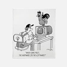 Chicken Cartoon 2372 Throw Blanket