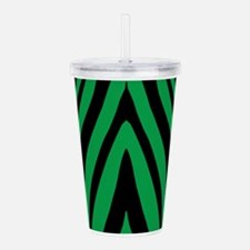 Green Zebra Acrylic Double-Wall Tumbler