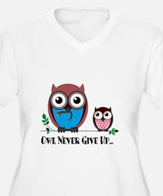 Owl Never Give Up (Dysautonomia) Plus Size T-Shirt