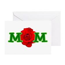 Mom Rose Greeting Cards (Pk of 10)
