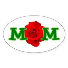 Mom Rose Oval Decal