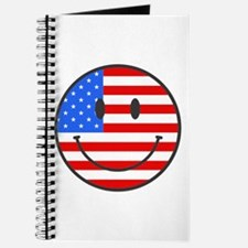 Smiley Face Fourth Of July Journal