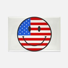 Smiley Face Fourth Of July Rectangle Magnet (10 pa