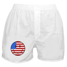 Smiley Face Fourth Of July Boxer Shorts