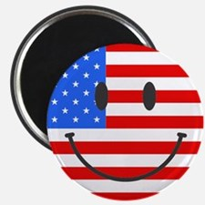 "Smiley Face Fourth Of July 2.25"" Magnet (100 pack)"