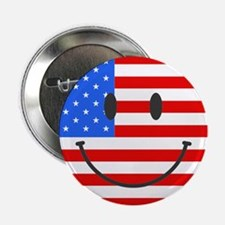 """Smiley Face Fourth Of July 2.25"""" Button (100 pack)"""