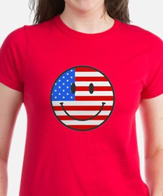 Smiley Face Fourth Of July Tee