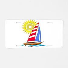 Sun and Sails Aluminum License Plate
