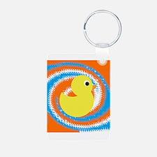 Rubber Duck Orange Blue Keychains