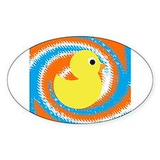Rubber Duck Orange Blue Decal