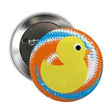 "Rubber Duck Orange Blue 2.25"" Button (10 pack)"