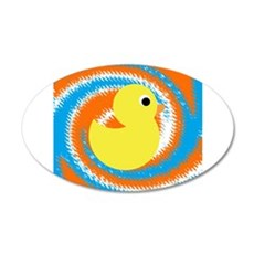 Rubber Duck Orange Blue Wall Decal