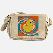 Rubber Duck Orange Blue Messenger Bag