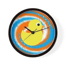 Rubber Duck Orange Blue Wall Clock