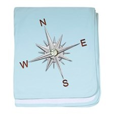 silver compass points copy baby blanket