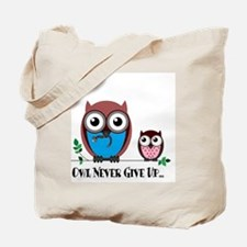 Owl Never Give Up (Dysautonomia) Tote Bag
