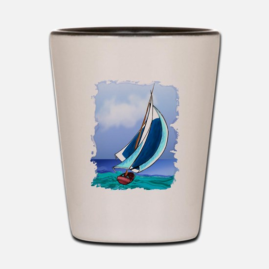 Sailing Away Shot Glass
