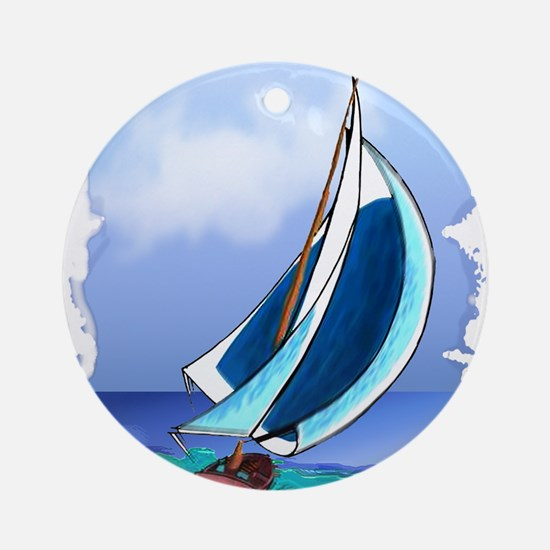 Sailing Away Ornament (Round)