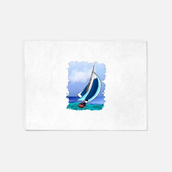 Sailing Away 5'x7'Area Rug