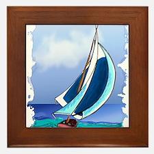 Sailing Away Framed Tile
