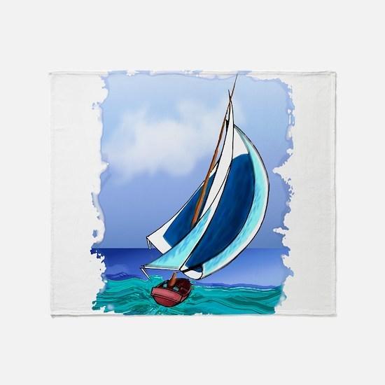 Sailing Away Throw Blanket