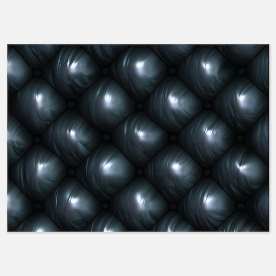 Lounge Leather - Black Invitations