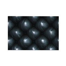 Lounge Leather - Black Rectangle Magnet