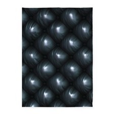 Lounge Leather - Black 5'x7'Area Rug