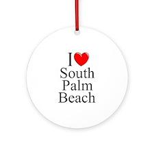 """""""I Love South Palm Beach"""" Ornament (Round)"""