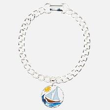 Sailboat, ocean and Sun Bracelet