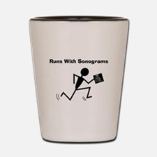 Sonographer Ultrasound Tech Shot Glass