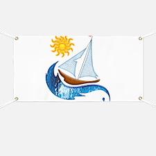 Sailboat, ocean and Sun copy Banner