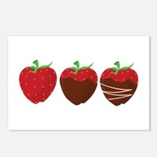 Chocolate Strawberry Postcards (Package of 8)