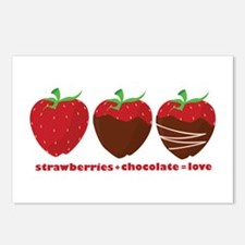 Strawberries & Chocolate Postcards (Package of 8)