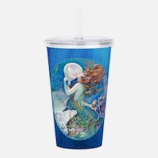 Clive Pearl Mermaid Acrylic Double-wall Tumbler