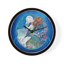 Clive Pearl Mermaid Wall Clock
