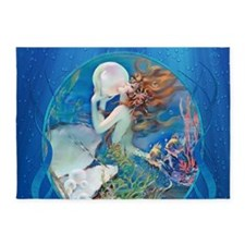 Clive Pearl Mermaid 5'x7'Area Rug