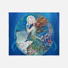 Clive Pearl Mermaid Throw Blanket
