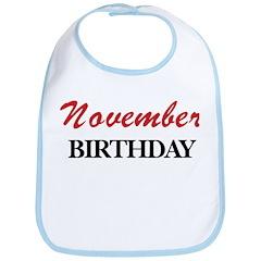 November birthday Bib