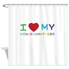 I love my kindergartners Shower Curtain