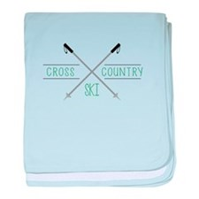 Cross Country Ski baby blanket