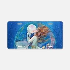 Clive Pearl Mermaid Aluminum License Plate