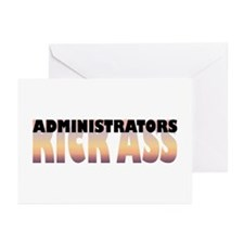 Administrators Kick Ass Greeting Cards (Package of