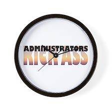 Administrators Kick Ass Wall Clock