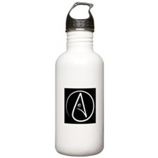 atheism earth Water Bottle