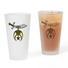 Unique Shriners Drinking Glass