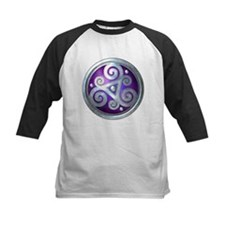 Celtic Double Triskelion - Silver & Purple Basebal