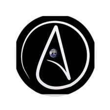 "atheism earth 3.5"" Button (100 pack)"