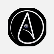 """atheism earth 3.5"""" Button (100 pack)"""